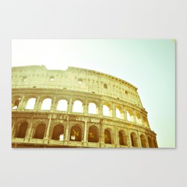 Postcards from Italy: Colosseo Canvas Print