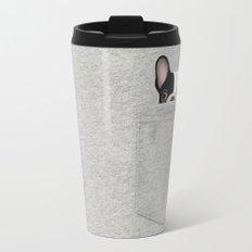 Pocket French Bulldog - Pied Travel Mug