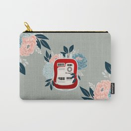 Floral O Negative Blood Carry-All Pouch