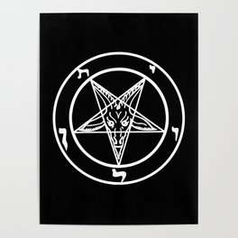 Das Siegel des Baphomet - The Sigil of Baphomet (white) Poster