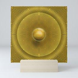 Golden Sunrise Pattern Mini Art Print