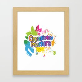 Creativity Matters Framed Art Print