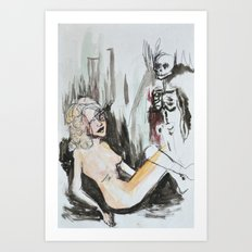 talking to ghosts Art Print
