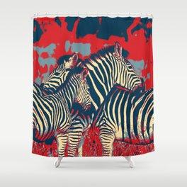 American Zebra Shower Curtain