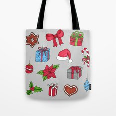 Christmas pattern (#1 grey) Tote Bag