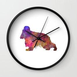English Cocker Spaniel in watercolor Wall Clock