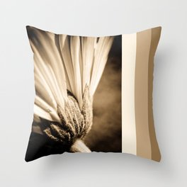 Sepia Gerbera Throw Pillow