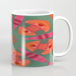 Succulent Red and Yellow Flower Abstract I Coffee Mug