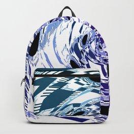 Purple Ombre Daisy Swirl Boho Backpack