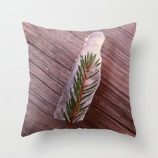 Green in Ice Throw Pillow