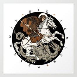 Sic Semper Draconis Art Print