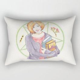 Willow Rosenberg of Buffy The Vampire Slayer Watercolor Portrait Illustration Rectangular Pillow