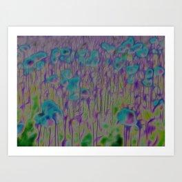 Corn Poppy Blue Art Print