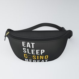 Casino Eat Sleep Casino Repeat Fanny Pack