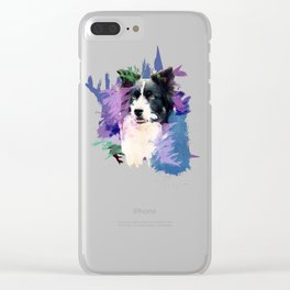Border Collie T-Splash Art Dog Owner Gift Clear iPhone Case