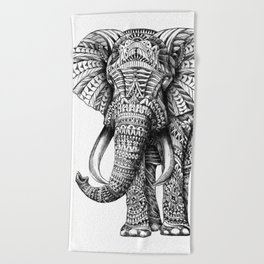 Ornate Elephant Beach Towel