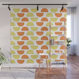 Orange Slices Pattern Wall Mural