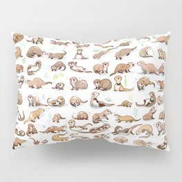 100 otters Pillow Sham