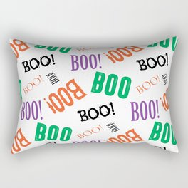 Boo! Pattern on White Background Rectangular Pillow