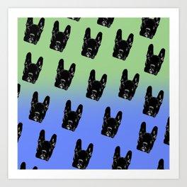 Asia (green&blue pattern) Art Print