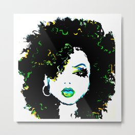 Naturally Dope Metal Print