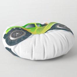 Monster Truck Toy Design Floor Pillow