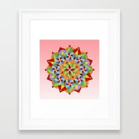 manchester Framed Art Prints featuring Manchester Mandala  by Patricia Shea Designs