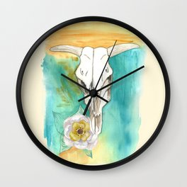 South West Cow Skull Wall Clock