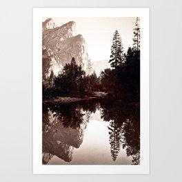 Three Brothers, Yosemite, California Art Print