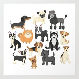 Cute Puppies Little Dogs Art Print