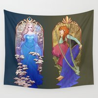 mucha Wall Tapestries featuring For the First Time in Forever by Megan Lara