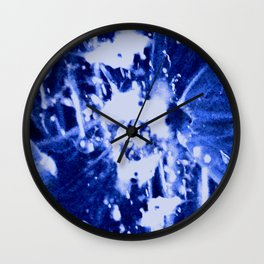 Broken Blue Wall Clock