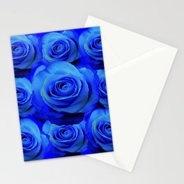 AWESOME BLUE ROSE GARDEN  PATTERN ART DESIGN Stationery Cards