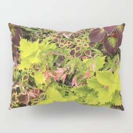 Foliage Fiesta With A Touch Of Begonia Pillow Sham