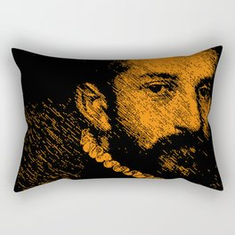 """The black knight"" by Giovanni Battista Moroni Rectangular Pillow"