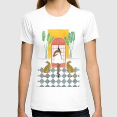 Nameless Dress SMALL Womens Fitted Tee White