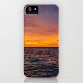 Maldivian Sunset iPhone Case