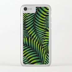 Palm leaves VII Clear iPhone Case