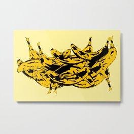 Band Of Bananas Yellow Metal Print