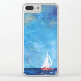 Nainy's Boat Clear iPhone Case