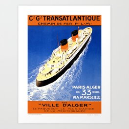 Vintage poster - French Cruise Line Art Print