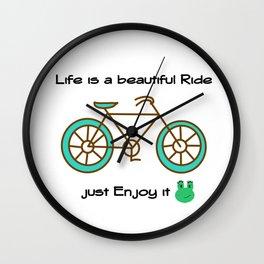 Life is a Beautiful Ride Wall Clock
