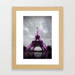 Pink Paris Framed Art Print