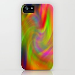 dripping colors iPhone Case