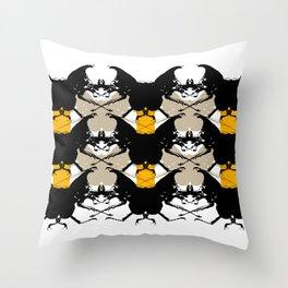 Scarabs Yellow Beige Throw Pillow