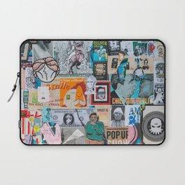Sticker and graffiti wall background 6 - Berlin street art photography Laptop Sleeve
