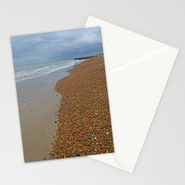 Brighton pebble beach Stationery Cards