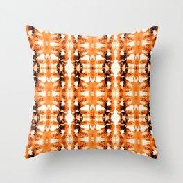 Tie-Dye Tangerines Throw Pillow