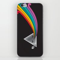 dark side of the moon iPhone & iPod Skins featuring Dark Side by Inky Valentine