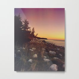 Sunset By the Sea Metal Print